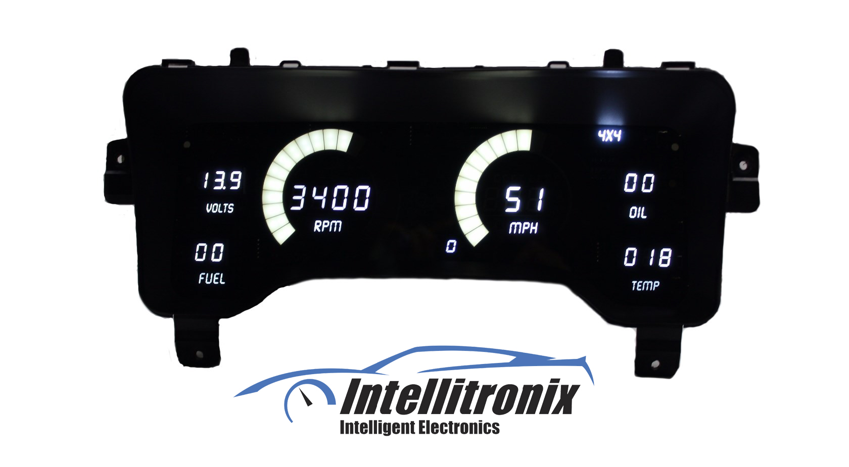 Jeep Digital Gauges : Digital replacement dash panel for jeep tj from intellitronix